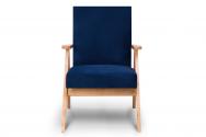 Fotel SAPET granatowy/jasny dąb