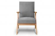 Fotel SAPET szary/jasny dąb