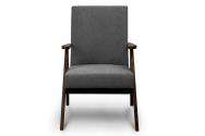 Fotel SAPET szary/ciemny orzech
