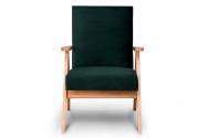 Fotel SAPET zielony/jasny dąb