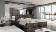 Łóżko tapicerowane Mozela z pojemnikiem