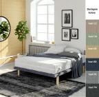 Łóżko tapicerowane Yoga - 6 kolorów