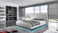 Łóżko tapicerowane Aube z pojemnikiem
