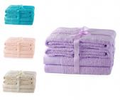 Zestaw 6 ręczników AMARILIS - różne kolory