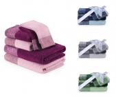 Zestaw ręczników bawełnianych KREA 6 sztuk - różne kolory