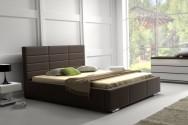 Łóżko tapicerowane Rennes z pojemnikiem