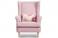Fotel ELLING różowy