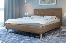 Łóżko tapicerowane SANTANA beżowe monolith