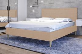Łóżko tapicerowane SANTANA ecru sawana