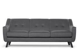 Sofa  trzyosobowa ADEL ciemny szary