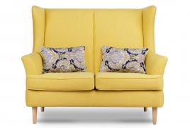 Sofa dwuosobowa ELLING żółty