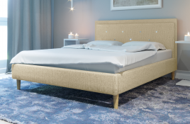 Łóżko tapicerowane SANTANA ecru monolith