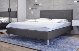 Łóżko tapicerowane SANTANA ciemnoszare sawana