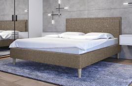 Łóżko tapicerowane SANTANA beżowe sawana