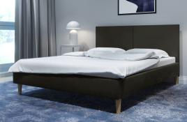 Łóżko tapicerowane SINTRA ciemnoszare monolith