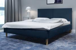 Łóżko tapicerowane SINTRA granatowe monolith