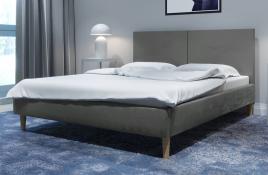 Łóżko tapicerowane SINTRA szare monolith