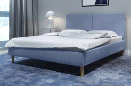 Łóżko tapicerowane SINTRA niebieskie monolith