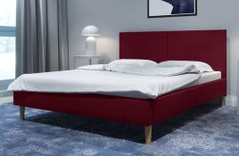 Łóżko tapicerowane SINTRA czerwone monolith