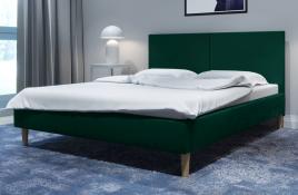 Łóżko tapicerowane SINTRA zielone monolith