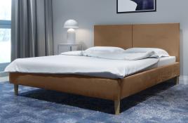Łóżko tapicerowane SINTRA beżowe monolith