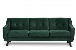 Sofa trzyosobowa ADEL ciemny zielony