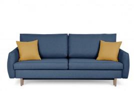 Sofa trzyosobowa TOBI granatowy/zółty