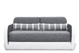 Sofa dwuosobowa HUGO szary/biały