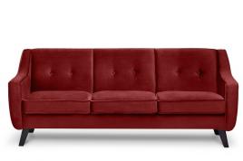 Sofa trzyosobowa ADEL bordowy