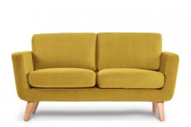 Sofa dwuosobowa DINA żółty