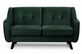 Sofa dwuosobowa ADEL ciemny zielony