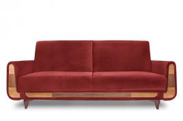 Sofa trzyosobowa REST bordowy