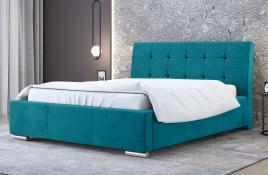Łóżko tapicerowane MOSS niebieskie casablanca