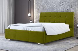Łóżko tapicerowane MOSS zielone casablanca
