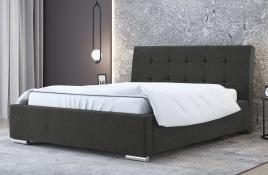 Łóżko tapicerowane MOSS ciemnoszare casablanca