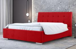 Łóżko tapicerowane MOSS czerwone casablanca