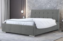 Łóżko tapicerowane MOSS szare casablanca
