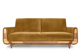 Sofa trzyosobowa REST żółty