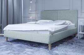 Łóżko tapicerowane SINTRA niebieskie sawana