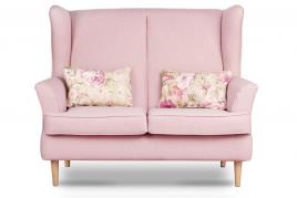 Sofa dwuosobowa ELLING różowy