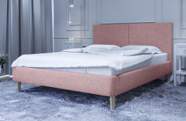 Łóżko tapicerowane SINTRA czerwone sawana
