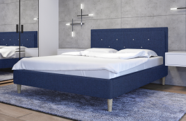 Łóżko tapicerowane SANTANA granatowe sawana