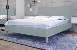 Łóżko tapicerowane SANTANA niebieskie sawana