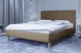 Łóżko tapicerowane SINTRA beżowe sawana