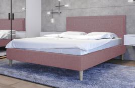 Łóżko tapicerowane SANTANA czerwone sawana