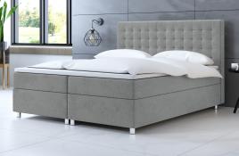 Łóżko kontynentalne TROMSO szare casablanca