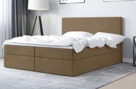 Łóżko kontynentalne HALDEN beżowe casablanca