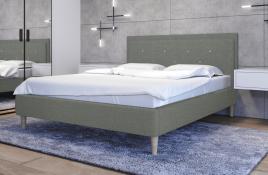 Łóżko tapicerowane SANTANA zielone sawana