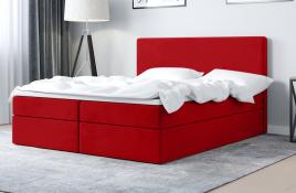 Łóżko kontynentalne HALDEN czerwone casablanca