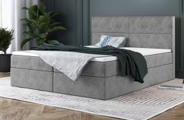Łóżko kontynentalne AVESTA szare monolith